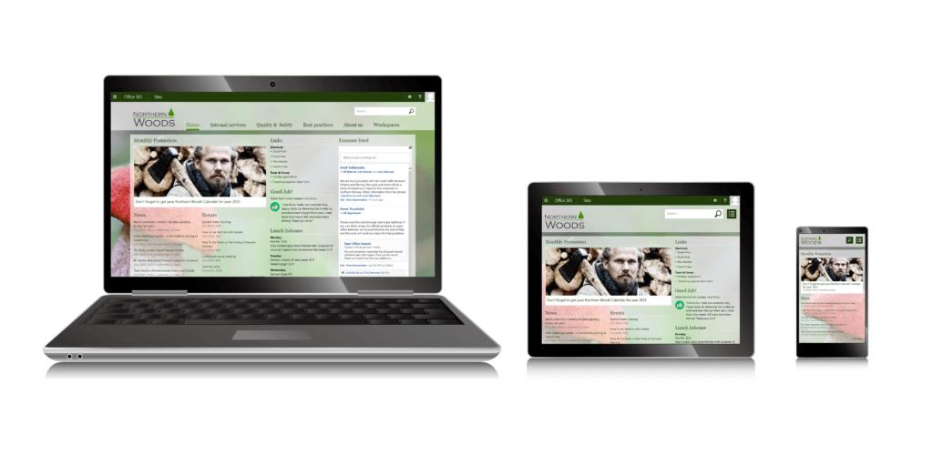 Valo intranet mobile responsive design