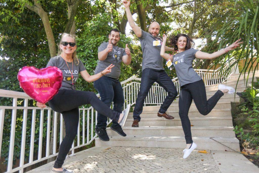 Valo Team jumps for joy