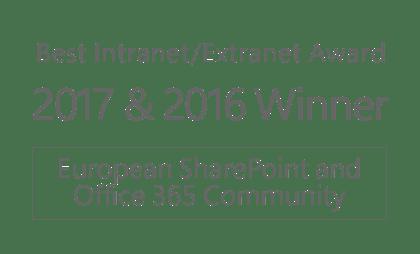 Best Intranet Extranet Award 2017-2016