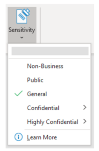 sensitivity labels Microsoft office 365