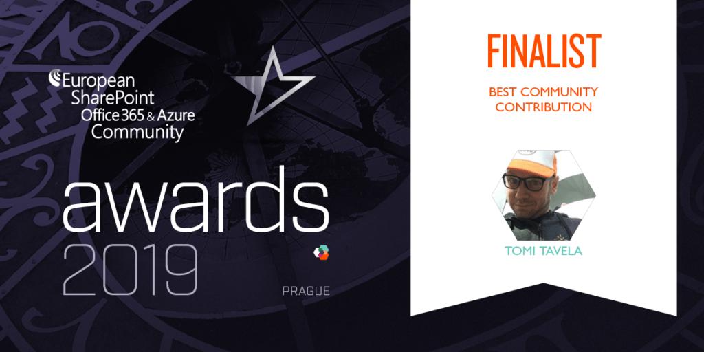 ESPCAwards2019 Finalists Tomi Tavela