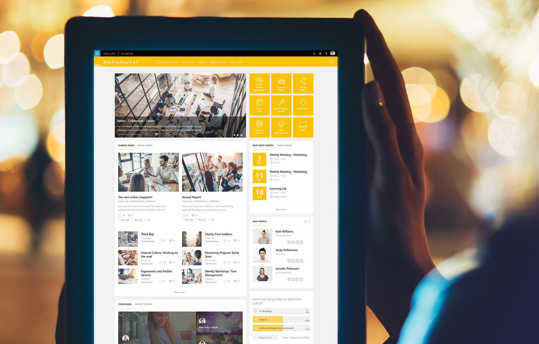 Valo Intranet comes now with LUX UI
