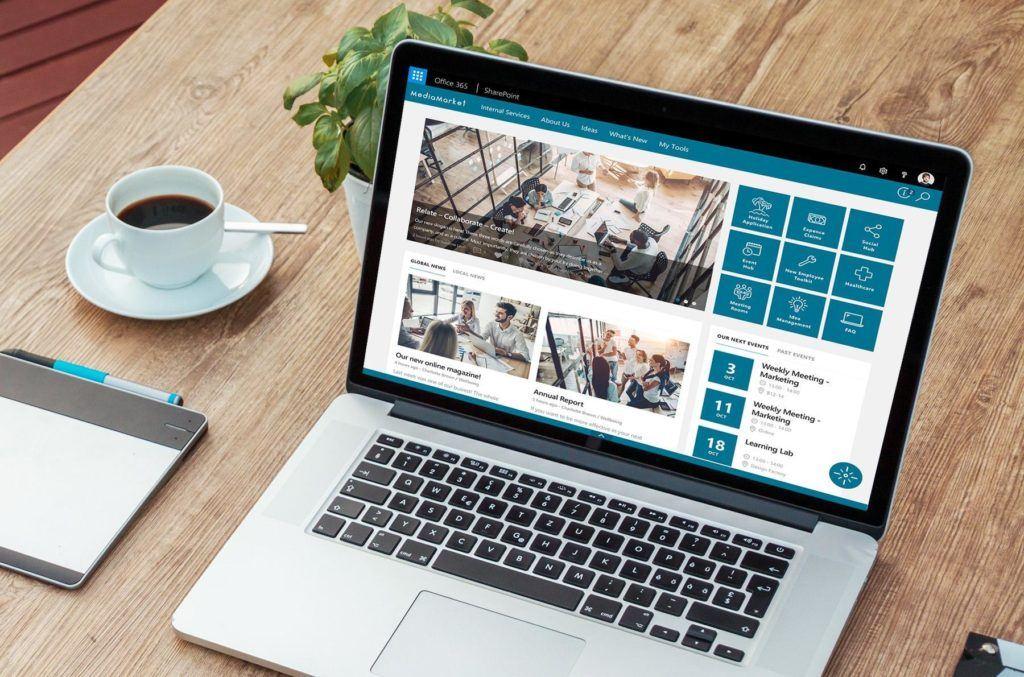 Modern LUX intranet laptop