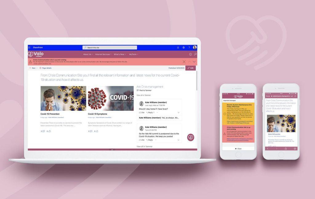 Crisis Management site intranet