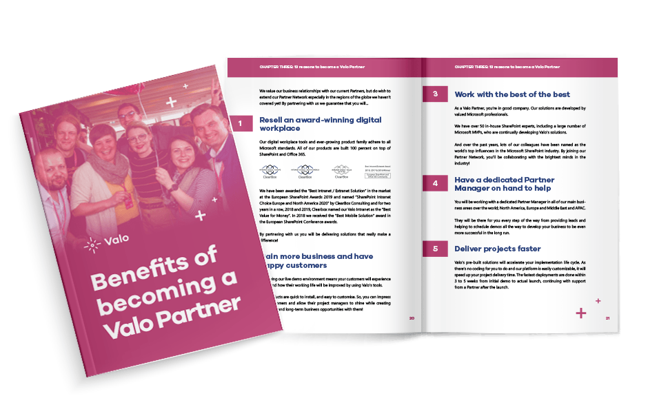 Benefits of Becoming a Valo Partner