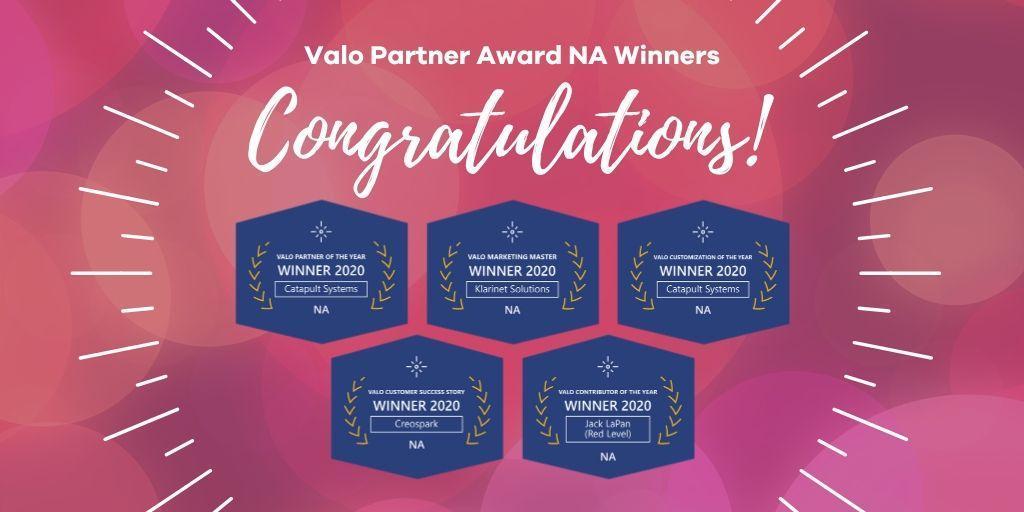 Valo Partner Award Winners 2020