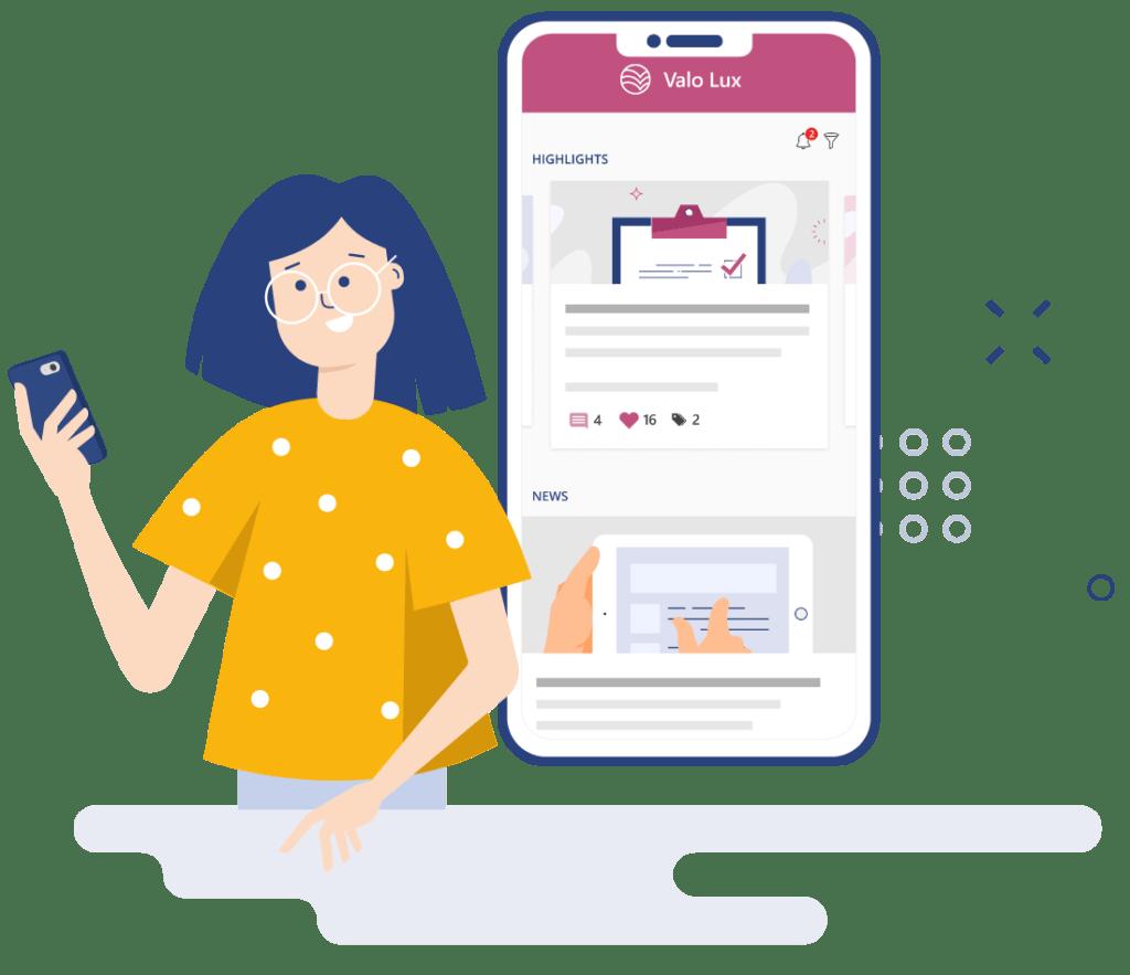Alwayslatest newswith valo digital workplace app