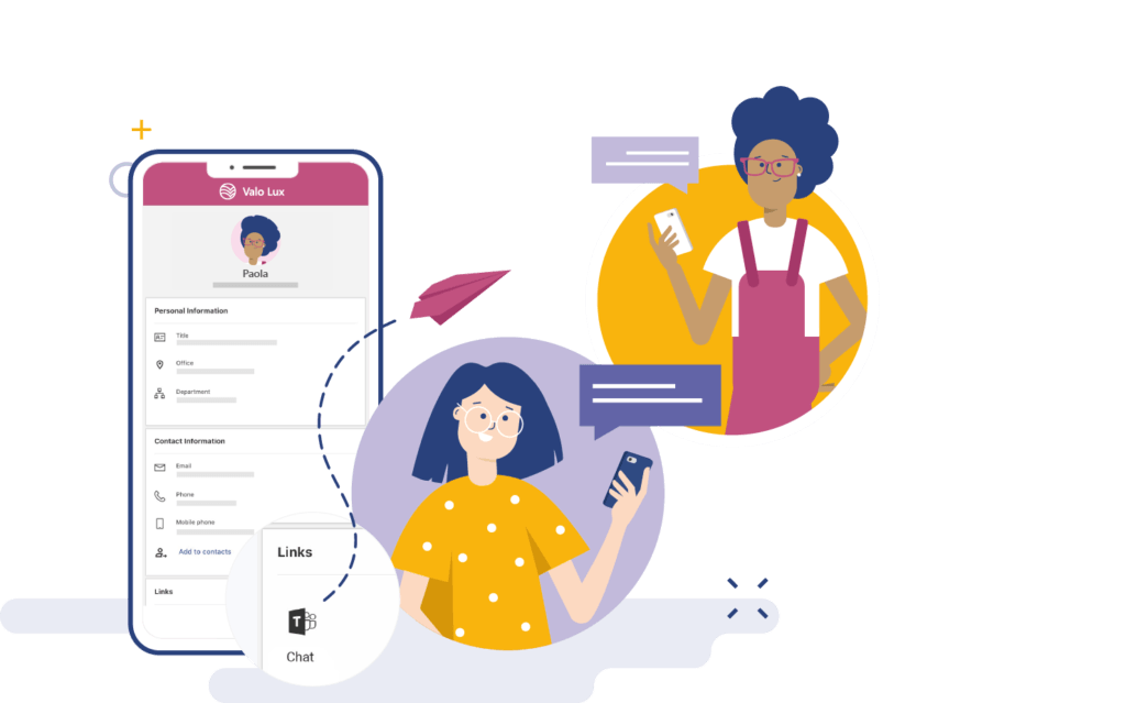 Connect with co-workerswith Valo Digital Workplace App