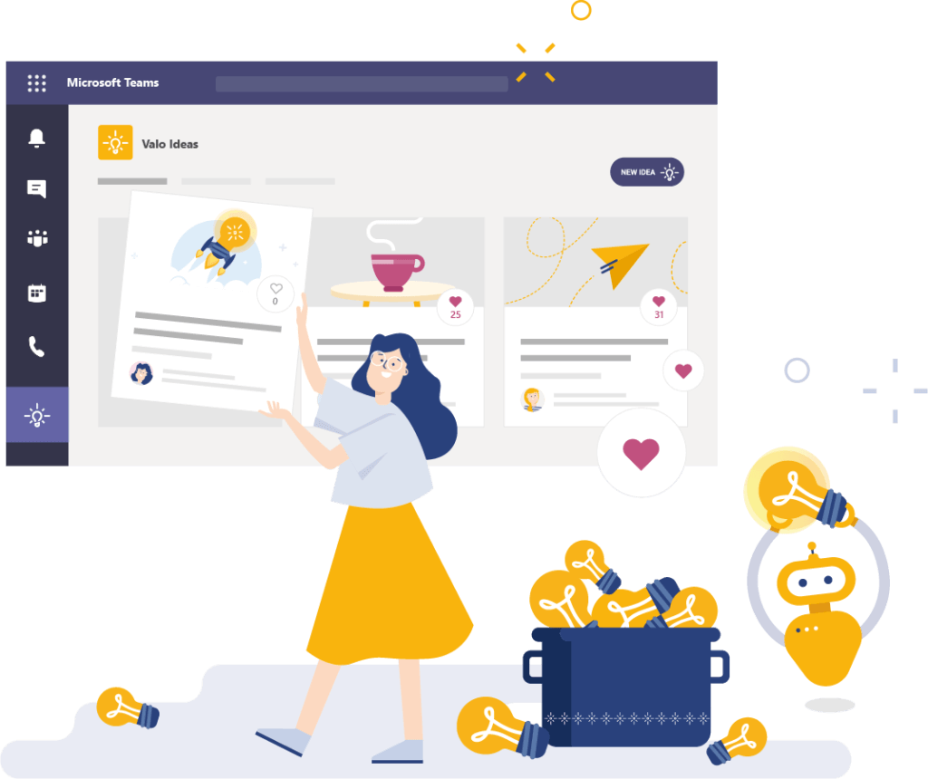 Valo Ideas - easy-to-use ideation tool