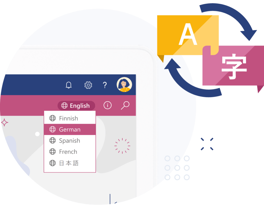 valo intranet add-on multilingual
