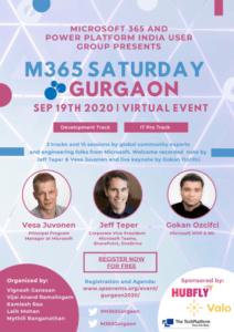 M365 Saturday Gurgaon Poster - page 1