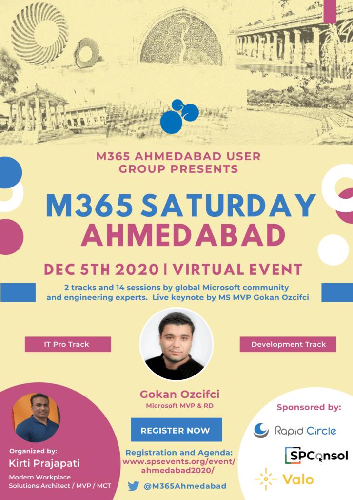 M365 Saturday Ahmedabad Keynote Poster p1