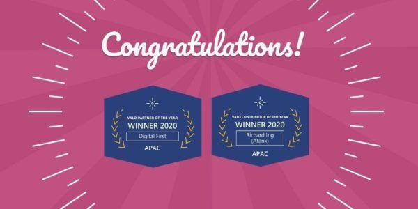 Valo Partner Award Winners APAC 2020