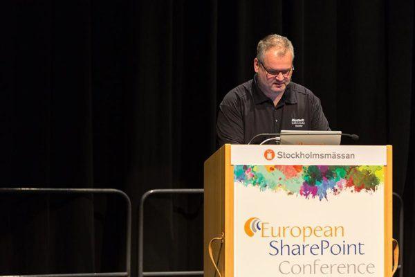 Erwin van Hunen during European SharePoint Conference