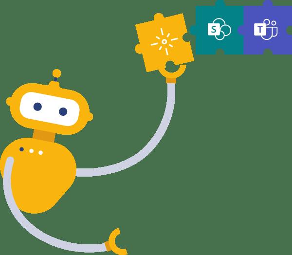 Valon tuotteet sopivat täydellisesti yhteen Microsoftin SharePointin ja Teamsin päälle