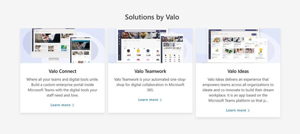 Valo in Microsoft Solutions Gallery
