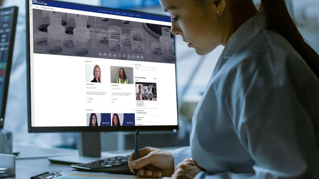 collaborative intranet for Biotage