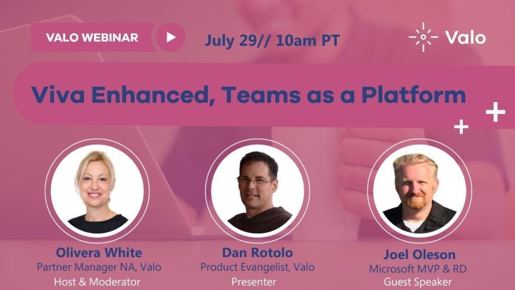 Viva Enhanced, Teams as a Platform Banner 10am PT