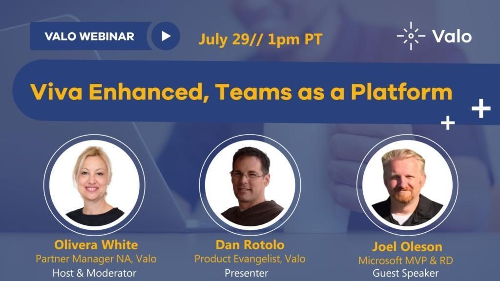 Viva Enhanced, Teams as a Platform Banner 1pm PT