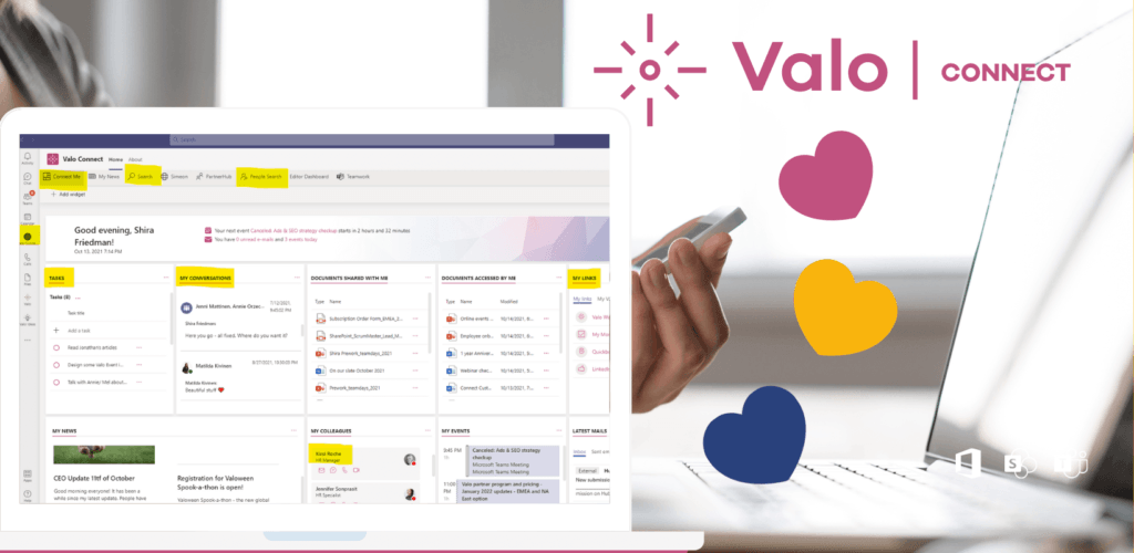 Valo Connect Me is my own personalized intranet
